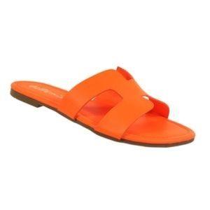 HOLLY Sandals - Neon Orange